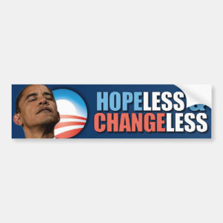 Obama anti invariable desesperado pegatina para auto