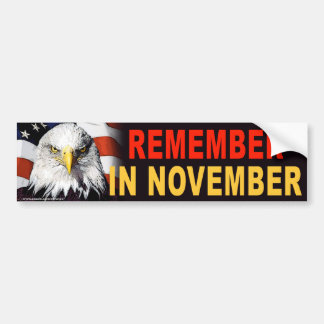 Obama anti los E E U U Eagle recuerda al pegati Pegatina De Parachoque