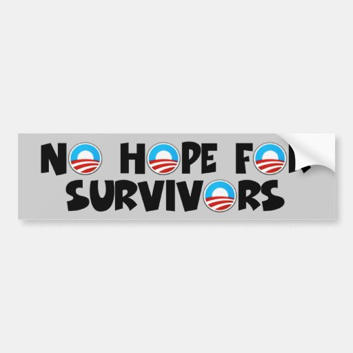 Obama anti, ninguna esperanza Obama Pegatina De Parachoque