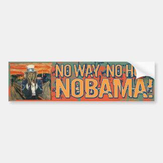 Obama anti ninguna manera ninguna cómo Nobama Pegatina Para Auto