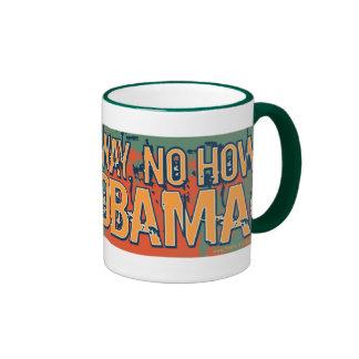 Obama anti ninguna manera ninguna cómo Nobama Taza De Dos Colores