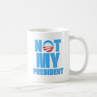 Obama anti no mi presidente taza de café