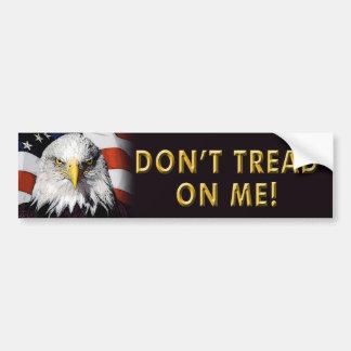 """Obama anti """"no pisa en mí"""" a la pegatina para el p pegatina para auto"""