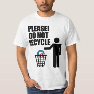 ¡Obama anti no recicla! Playeras