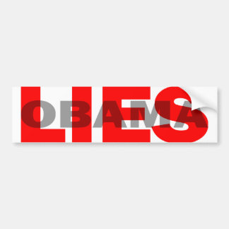 "Obama anti ""Obama miente"" Pegatina Para Auto"