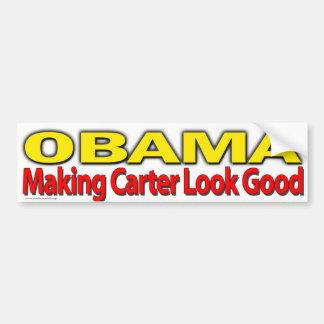 "Obama anti ""Obama que hace la mirada de Carretero  Pegatina De Parachoque"