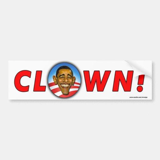 "Obama anti ""payaso!"" pegatina para el parachoques etiqueta de parachoque"