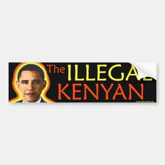 Obama anti pegatina para el parachoques del Kenya Etiqueta De Parachoque