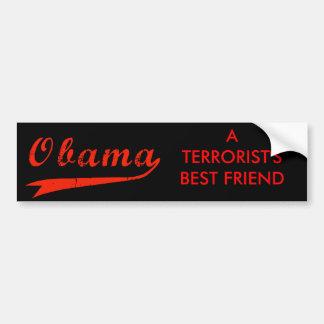 Obama anti - pegatina para el parachoques del mejo etiqueta de parachoque