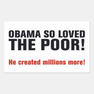 Obama anti pegatina rectangular