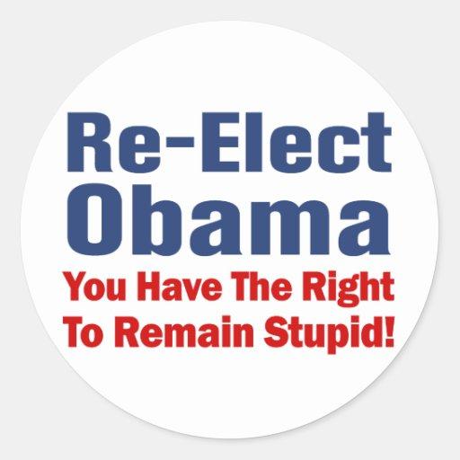 Obama anti pegatina redonda