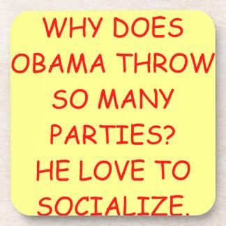 obama anti posavasos de bebidas
