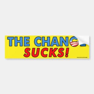 """¡Obama anti """"que el cambio chupa! """"pegatina para e Pegatina De Parachoque"""