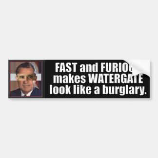 Obama anti rápido y furioso etiqueta de parachoque