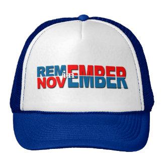 """Obama anti """"recuerda en noviembre"""" el gorra"""