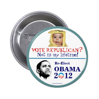 OBAMA anti-Republican 2012 political pinback butto Pinback Button