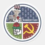 Obama anti - ROBBERY.GOV Pegatina
