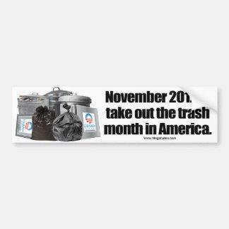 Obama anti - saque la basura etiqueta de parachoque