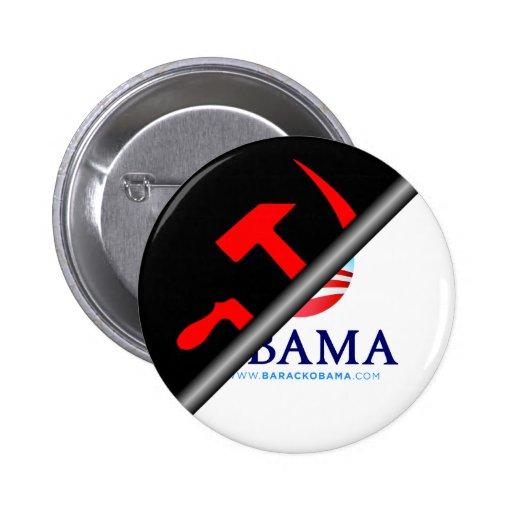 Obama anti - socialista anti pin redondo 5 cm