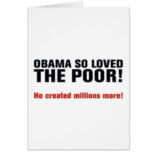 Obama anti tarjeta de felicitación