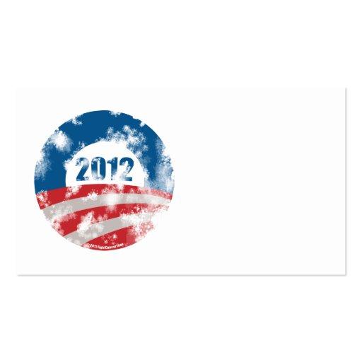 Obama apenó símbolo plantilla de tarjeta de negocio
