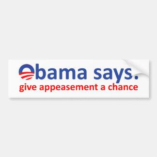 Obama Appeasement Bumper Sticker