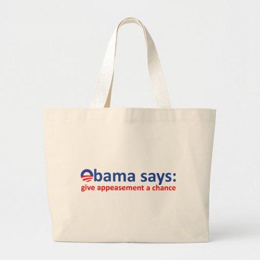 Obama Appeasement Canvas Bag