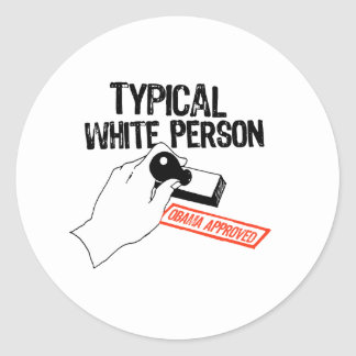 OBAMA APPROVED CLASSIC ROUND STICKER