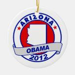Obama - Arizona Adorno Navideño Redondo De Cerámica