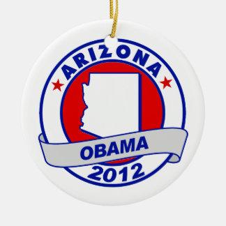 Obama - Arizona Ornamento Para Arbol De Navidad