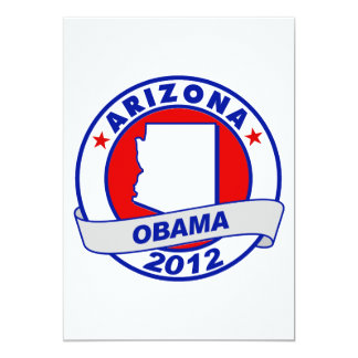 Obama - Arizona 5x7 Paper Invitation Card