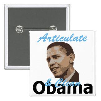 Obama Articulate Clean  Pins