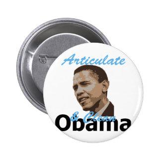 Obama Articulate Clean  Pin
