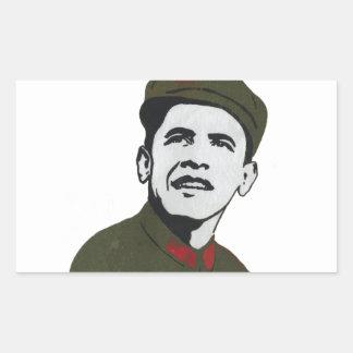 Obama as Che Guevara Design Rectangular Sticker