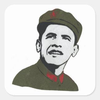 Obama as Che Guevara Design Square Sticker