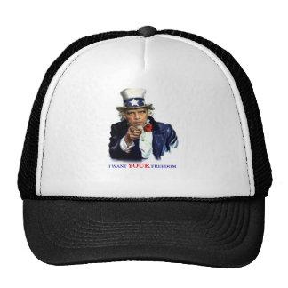 Obama As Uncle Sam Trucker Hat