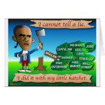 Obama as Young George Washington Greeting Card