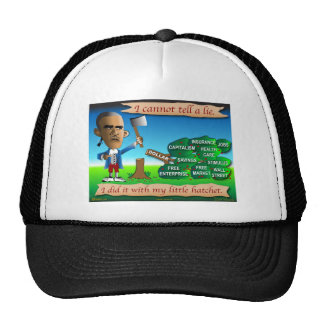 Obama as Young George Washington Trucker Hat