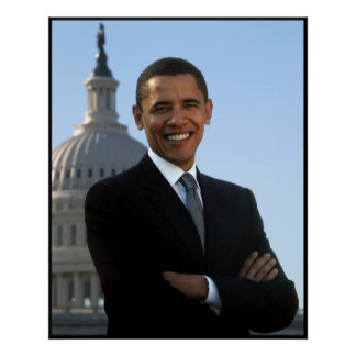 Obama At The Capitol Building Poster