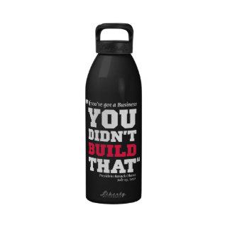 Obama ataca el negocio - elección 2012 botella de agua