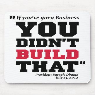 Obama ataca el negocio - elección 2012 tapete de ratones