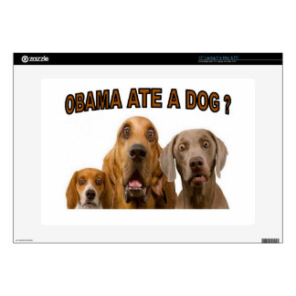 OBAMA ATE A DOG.jpg Laptop Decals