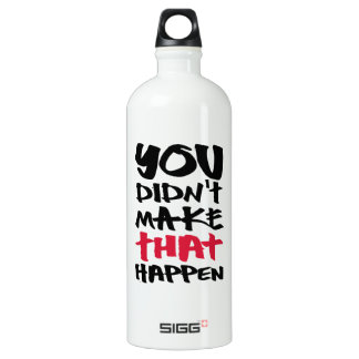 Obama Attacks Business - Election 2012 Aluminum Water Bottle