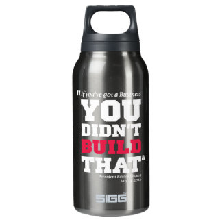 Obama Attacks Business - Election 2012 Insulated Water Bottle