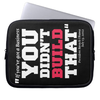 Obama Attacks Business - Election 2012 Laptop Sleeve