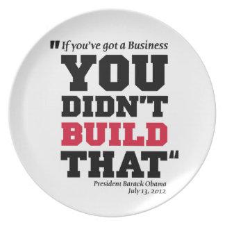 Obama Attacks Business - Election 2012 Melamine Plate