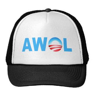 OBAMA AWOL TRUCKER HAT