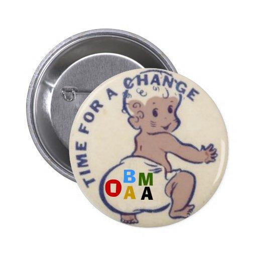 Obama Baby Diaper Button