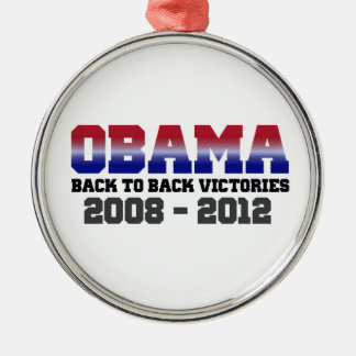 Obama Back-to-Back Victory 2008 - 2012 Christmas Ornaments