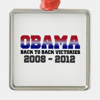 Obama Back-to-Back Victory 2008 - 2012 Christmas Tree Ornament